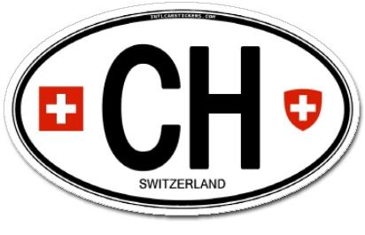 Switzerland - CH Car Sticker