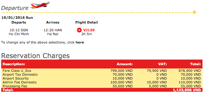 Flight Charges