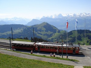 The best of Swiss transport at Mt. Rigi – Switzerland