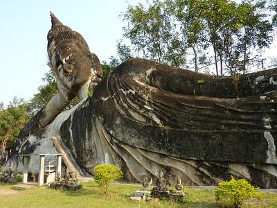 Reclining Buddha, Xieng Khuan (Buddha Park) – Laos