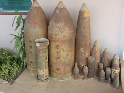 Ornamental Bomb Shells, Phonsavan – Laos