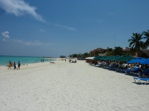 White sand beach, Playa del Carmen – Mexico