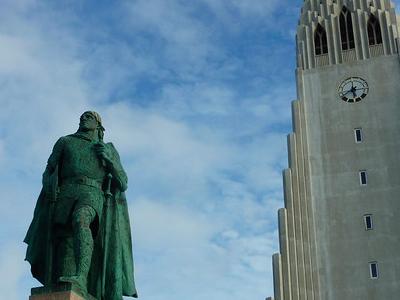 Leif Eriksson at Hallgrímskirkja, Reykjavik – Iceland