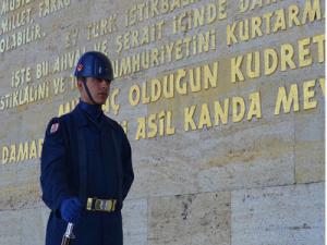 Guard at Ataturk's memorial tomb, Ankara – Turkey