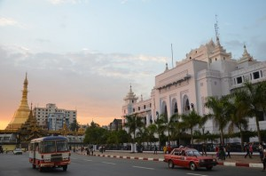 Sule Paya and City Hall, Yangon – Myanmar