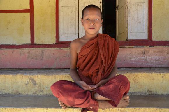 Boy monk at a monastery near Kalaw – Myanmar (Burma)