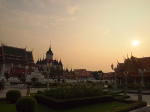 Wat Ratchanadda at sunset, Bangkok – Thailand