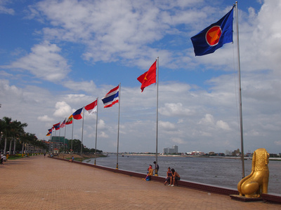Flags of ASEAN, Phnom Penh – Cambodia