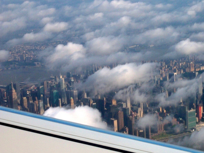 Manhattan from the air, New York – USA