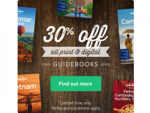 Lonely Planet Sale – 30% off print guides and ebooks
