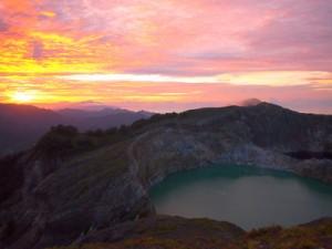 Sunrise at Kelimutu National Park