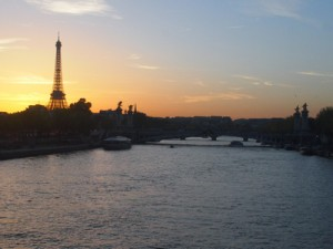 Eiffel Tower sunset, Paris – France