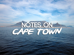 Notes on Cape Town