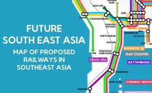 Map of proposed railways in Southeast Asia