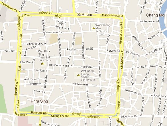 Chiang Mai Map