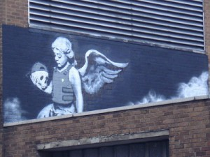 Cherub with a bullet proof vest
