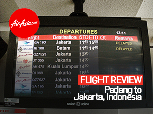 Flight Review: AirAsia - Padang to Jakarta, Indonesia