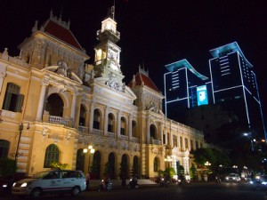 City Hall at night - Saigon