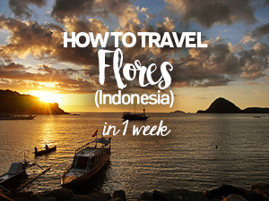 How to travel Flores (Indonesia) in 1 week