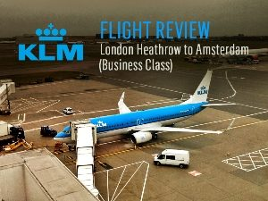 KLM - London Heathrow to Amsterdam [Business Class]