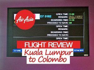 AirAsia X - Kuala Lumpur to Colombo