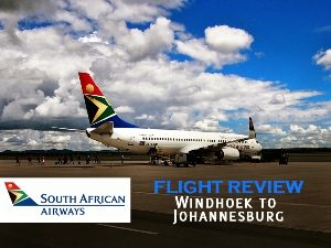 South African Airways - Windhoek to Johannesburg