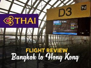 Thai Airways - Bangkok to Hong Kong