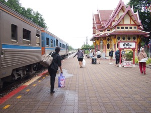Kanchanaburi to Hua Hin by train (with a bonus stop at the tallest stupa in the world)