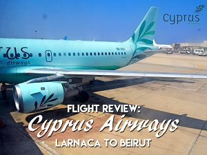 Flight Review: Cyprus Airways - Larnaca to Beirut